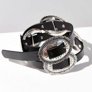 Accessories - Metal Medallion Western Belt NWOT